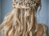 Half Up Bridal Hairstyles with Veil 50 Best Bridal Hairstyles without Veil Hair