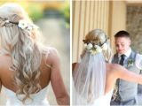 Half Up Bridal Hairstyles with Veil Bridal Hair Inspo Bride Guide