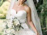Half Up Bridal Hairstyles with Veil Wedding Inspiration Mon Cheri Bridals