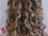 Half Up Hairstyles Back View Cute Little Girl Curly Back View Hairstyles Prom Hairstyles