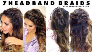 Half Up Hairstyles for Greasy Hair 7 Headband Braid Hairstyles Braided Half Updo Hair Tutorial