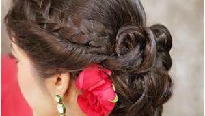 Half Updo Hairstyles for Saree Braided Bun Hairstyle Hair Styles