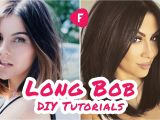 How to Cut A Layered Bob Haircut Yourself How to Cut Your Own Hair Long Bob Diy Tutorials