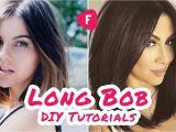 How to Cut A Long Bob Haircut Yourself How to Cut Your Own Hair Long Bob Diy Tutorials