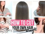How to Cut A Long Bob Haircut Yourself How to Cut Your Own Hair Straight