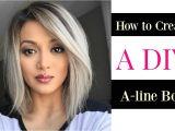 How to Cut Your Own Bob Haircut How to Create A Diy A Line Bob Cut