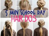How to Do A Easy Hairstyle for School 5 Minute School Day Hair Styles Fynes Designs
