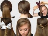 How to Do A Easy Hairstyle for School Step by Step S Of Elegant Bow Hairstyles Hairzstyle