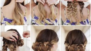 How to Do Easy Updo Hairstyles Yourself Creative Ideas Diy Easy Braided Updo Hairstyle