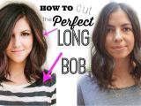 """How to Give Yourself A Bob Haircut How to Cut the Perfect Long Bob """"lob Haircut"""""""