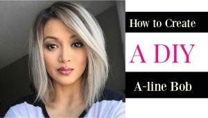 How to Make A Bob Haircut How to Create A Diy A Line Bob Cut