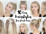 How to Make Easy Hairstyles for Short Hair 17 Easy Back to School Hairstyles