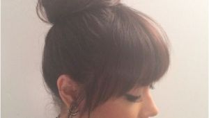 Images Of Hairstyles Buns with Bangs top Bun and Bangs … Hair Ideas