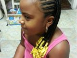 Little Girl Braids and Beads Hairstyles Black Girl's Cornrows Hairstyles Creative Cornrows