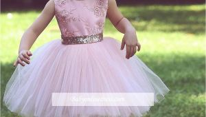 Little Girl Pageant Hairstyles 2018 Pink Princess Little Girls Pageant Dresses Jewel Neck Lace