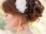 Loose Curly Bun Hairstyles Bride S Loose Curly Chignon Bun Bridal Bridal Hair toni