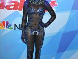 Mel B Latest Hairstyle Mel B S Bodysuit From America S Got Talent Leaves Little to the