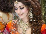 Pakistani Hairstyle for Wedding Pakistani Bridal Hairstyle 2016 for Mehndi Ceremony