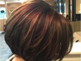 Pictures Of Bob Haircuts with Highlights Inverted Bob Chocolate Brown with Caramel Highlights
