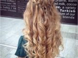 Prom Hairstyles Side Curls with Braid 31 Half Up Half Down Prom Hairstyles Hair Pinterest