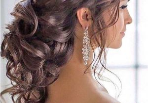 Prom Hairstyles Side Curls with Braid Peinados Peinados Pinterest