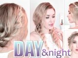 Quick and Easy Hairstyles for Long Hair Youtube Day to Night Hairstyles Braided Prom Updo Quick Easy and
