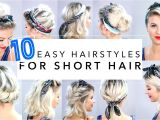 Quick and Easy Hairstyles for Short Thick Hair 10 Easy Hairstyles for Short Hair with Headband