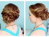 Quick and Easy Hairstyles for Short Thick Hair Quick Side Updo for Prom or Weddings D