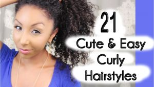 Quick and Easy Hairstyles for Thick Curly Hair 21 Cute and Easy Curly Hairstyles