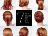 Quick Easy Hairstyles for Wet Long Hair Quick Hairstyle for Wet Hair Alldaychic