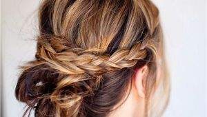 Quick Hairstyles with Braids 20 Easy Updo Hairstyles for Medium Hair Pretty Designs