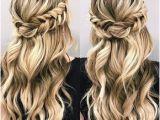 Romantic Hairstyles Down Beautiful Braid Half Up and Half Down Hairstyle for Romantic Brides