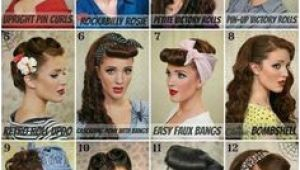 Simple 1950s Hairstyles 743 Best Pin Up Hair Tutorials Images