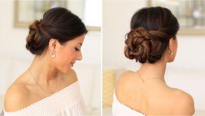 Simple Elegant Hairstyles Youtube 2 Minute Elegant Bun Hair Tutorial