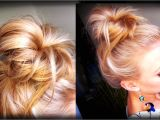 Simple Everyday Hairstyles Youtube Hair How to Messy topknot Bun
