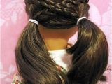 Simple Fun Easy American Girl Doll Hairstyles Cross Over Pigtails Doll Hairdo Pinterest