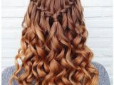 Simple Goddess Hairstyles Waterfall Braid with Curls for Every Goddess