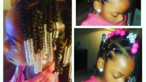 Simple Hairstyles for Little Girls Simple Hair Styles for Little Black Girls Braids Beads and