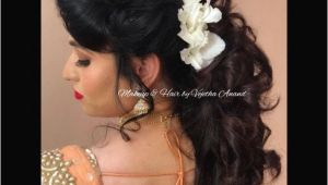 Simple Hairstyles On Saree Fresh Simple Hairstyle for Indian Wedding Party