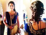 Simple Loose Hairstyles for Saree Loose Bun Hairstyle for Lehenga Choli