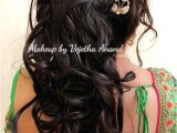 Simple Loose Hairstyles for Saree Romantic Bridal Updo by Vejetha for Swank Bridal Hairstyle Curls