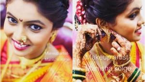 Simple Marathi Hairstyles Pic Of Simple Marathi Bridal Poof and Hair Bun
