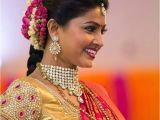 Sneha Wedding Hairstyle Actress Sneha S Hairstyles with Ethnic Wear Indian