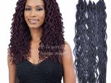 Soft Dreads Hairstyles 2019 2019 24 Roots Synthetic Wavy Faux Locs Curly Crochet Hair Faux Lock