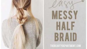 Super Easy Hairstyles with Braids Splendid Best 5 Minute Hairstyles – Messy Half Braids and Ponytail