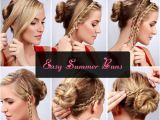 Top Ten Easy Hairstyles Easy Bun Hairstyle Tutorials for the Summers top 10