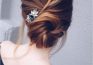 Up Hairstyles Buns This Pretty Updo Wedding Hairstyle with Hair Accessories Perfect for