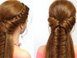 Videos Of Hairstyles for Long Hair Braided Hairstyle for Everyday Medium Long Hair Tutorial