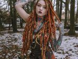 Viking Hairstyles for Women Hair Dreads Dreadstyles Dreadlocks Girlswithdreads Tattooed