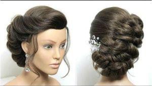 Wedding Bun Hairstyles Youtube Braided Bun Hairstyle Easy Updo Tutorial for Medium Long Hair